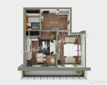 Продажа 2-к квартиры ЖК Весна,ул Мамадышский Тракт дом 5, 54 м² (миниатюра №7)