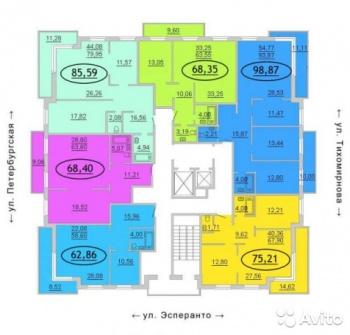 Продажа 2-к квартиры Петербургская 65 а, 65.0 м² (миниатюра №2)
