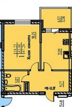 Продажа 1-к квартиры Шуртыгина,8, 47.0 м² (миниатюра №1)
