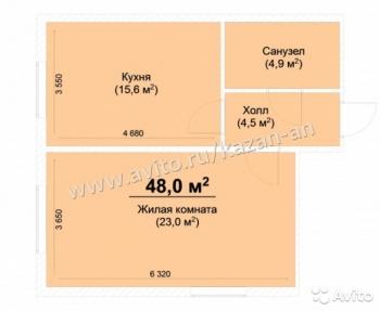Продажа 1-к квартиры Жилой комплекс Светлый,Куюки, 48.0 м² (миниатюра №4)