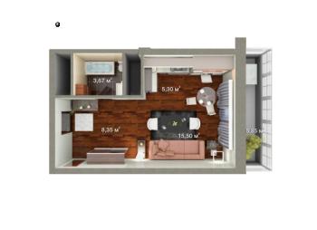 Продажа 1-к квартиры Мамадышский тракт д. 5, 36.0 м² (миниатюра №2)