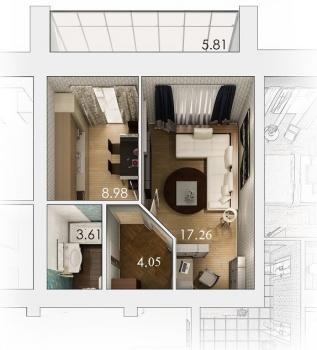 Продажа 1-к квартиры Патриса Лумумбы 1, 37.0 м² (миниатюра №4)