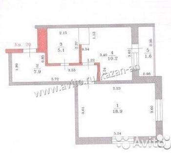 Продажа 1-к квартиры Ноксинский спуск д 21, 42.0 м² (миниатюра №4)