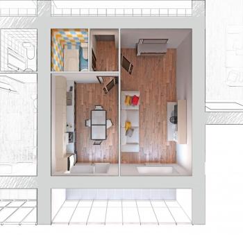 Продажа 1-к квартиры Отрадная,48, 43 м² (миниатюра №2)