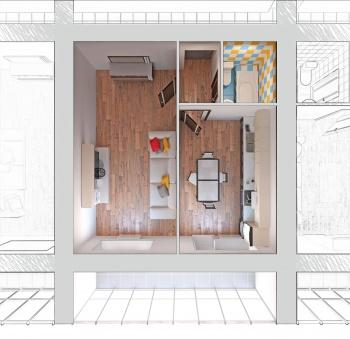 Продажа 1-к квартиры Отрадна, 48, 43.0 м² (миниатюра №1)
