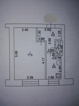Продажа 1-к квартиры Осиново, ул. Комсомольская, 7, 28.0 м² (миниатюра №1)