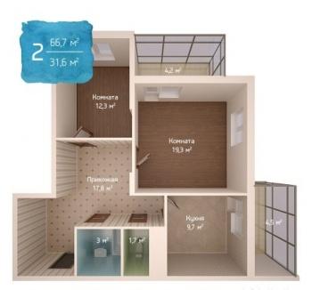 Продажа 2-к квартиры Адоратского 1 стр, 67.0 м² (миниатюра №2)
