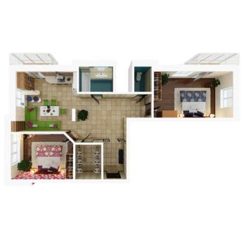 Продажа 3-к квартиры Павлюхина, 110в/ЖК Золотая Подкова, 88.0 м² (миниатюра №2)