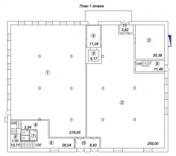 Продажа  склады, производства Восстания 100, 2036.0 м² (миниатюра №2)