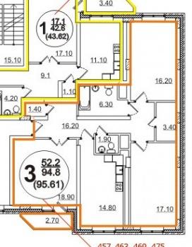 Продажа 3-к квартиры  Баки Урманче д.8, 92.0 м² (миниатюра №17)