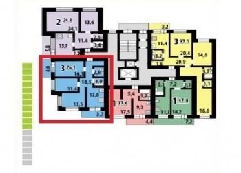 Продажа 3-к квартиры Заслонова, 76.1 м² (миниатюра №2)