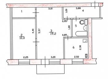Продажа 2-к квартиры Химиков,39, 46.0 м² (миниатюра №4)