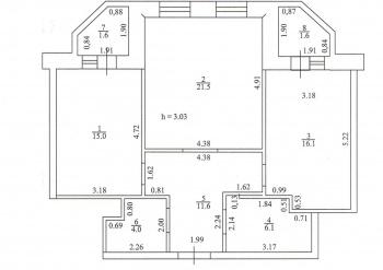 Продажа 2-к квартиры Профессорский пер., 3, 74.0 м² (миниатюра №3)