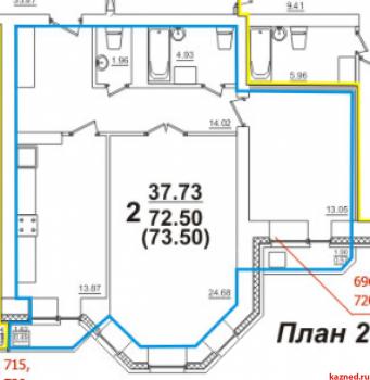 Продажа 2-к квартиры Баки Урманче д.6, 72.0 м² (миниатюра №18)