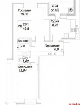 """Продажа 2-к квартиры Гоголя 31 """"А"""", 52 м² (миниатюра №3)"""