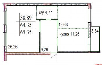Продажа 2-к квартиры ЖК ИСКРА Шуртыгина, д.7