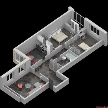 Продажа 3-к квартиры ЖК ИСКРА Шуртыгина д.7, 98 м² (миниатюра №3)