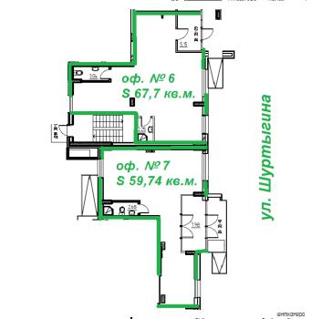 Продажа  офисно-торговые Шуртыгина, 8, 60 м² (миниатюра №5)