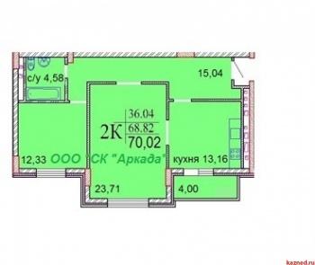 Продажа 2-к квартиры Шуртыгина, д. 7, 70.0 м² (миниатюра №2)