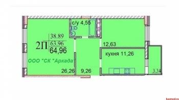 Продажа 2-к квартиры ЖК ИСКРА, Шуртыгина, д. 7