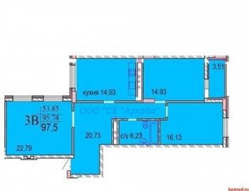 Продажа 3-к квартиры Шуртыгина, д.7, 97.5 м² (миниатюра №2)