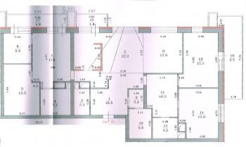 Продажа мн-к квартиры Патриса Лумумбы 50, 159.8 м² (миниатюра №7)