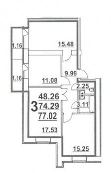 Продажа 3-к квартиры Ноксинский спуск, 77.0 м² (миниатюра №2)