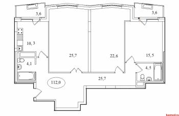 Продажа 3-к квартиры Айвазовского, 16, 112.0 м² (миниатюра №2)