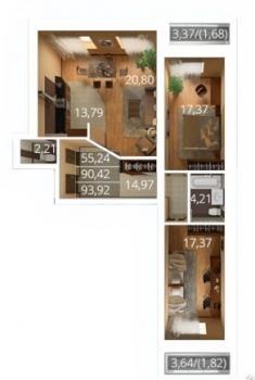 Продажа 3-к квартиры К. Насыри, 44, 94.0 м² (миниатюра №12)