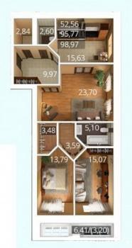 Продажа 3-к квартиры К. Насыри, 44, 94.0 м² (миниатюра №13)