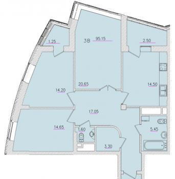 Продажа 3-к квартиры Оренбургский тракт 24а, 95.0 м² (миниатюра №12)