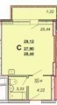 Продажа 1-к квартиры Оренбургский тракт, 29.0 м² (миниатюра №1)