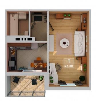 Продажа 1-к квартиры Рахлина, 41 м² (миниатюра №2)