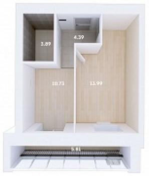 Продажа 1-к квартиры Мамадышский тракт, 3, 36 м² (миниатюра №1)