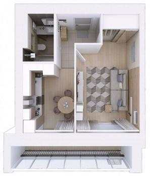 Продажа 1-к квартиры Мамадышский тракт, 3, 36 м² (миниатюра №2)
