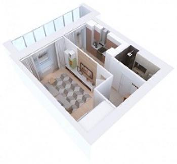 Продажа 1-к квартиры Мамадышский тракт, 3, 36 м² (миниатюра №3)