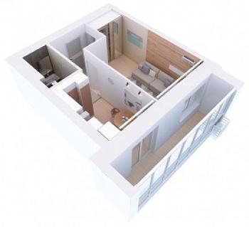 Продажа 1-к квартиры Мамадышский тракт, 3, 36 м² (миниатюра №5)