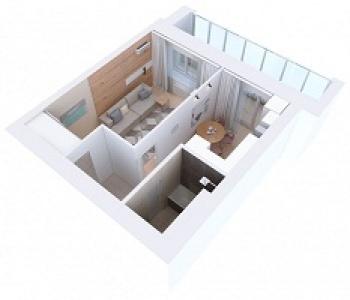 Продажа 1-к квартиры Мамадышский тракт, 3, 36 м² (миниатюра №4)