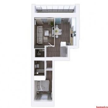 Продажа 2-к квартиры Мамадышский тракт, 3, 54.1 м² (миниатюра №2)