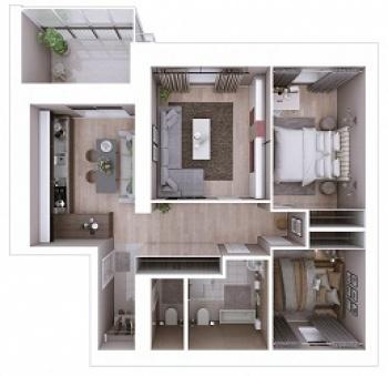 Продажа 3-к квартиры Мамадышский тракт, 3, 81.8 м² (миниатюра №2)