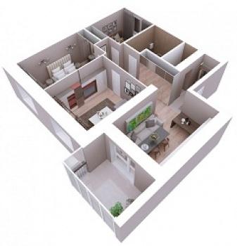 Продажа 3-к квартиры Мамадышский тракт, 3, 81.8 м² (миниатюра №3)