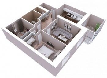 Продажа 3-к квартиры Мамадышский тракт, 3, 81.8 м² (миниатюра №4)