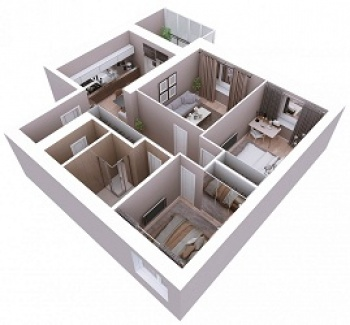 Продажа 3-к квартиры Мамадышский тракт, 3, 81.8 м² (миниатюра №5)