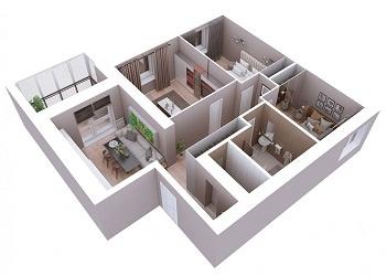 Продажа 3-к квартиры Мамадышский тракт, 3, 81.8 м² (миниатюра №6)