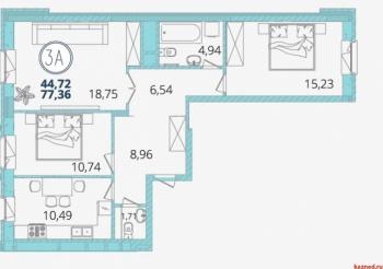 Продажа 3-к квартиры Дубравная 28а, 77 м² (миниатюра №7)