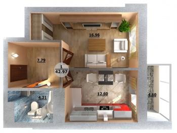 Продажа 1-к квартиры Камалеева