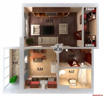 Продажа 1-к квартиры Альберта Камалеева