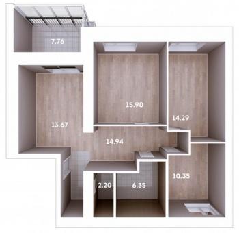 Продажа 3-к квартиры Тракт Мамадышский 3