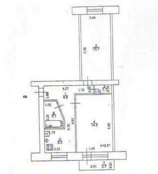 Продажа 2-к квартиры Солидарности, д.26, 44.0 м² (миниатюра №3)
