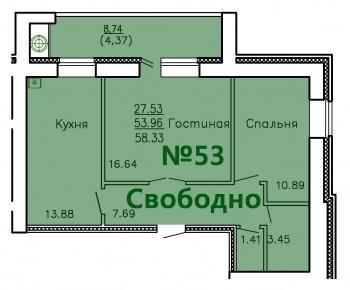 Продажа 2-к квартиры Ул.Приволжская д.№1